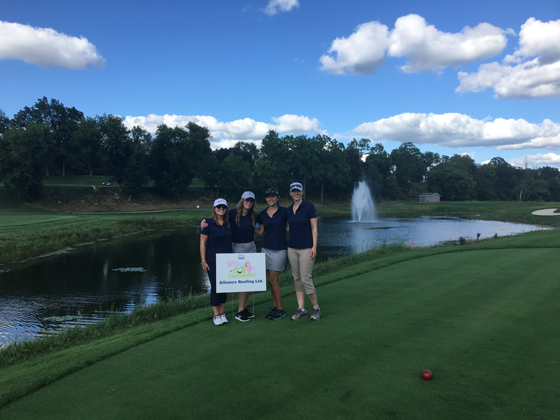 Photo of female Alliance Roofing Golf Team at Galt Country Club